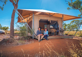 Luxuszelt mitten im Outback im Karijini Eco Retreat