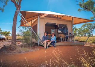 Luxuszelt mitten im Outback im Karijini Eco Retreat