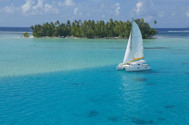 Segelboot vor Taha'a