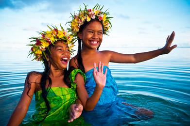 Cook Inseln Blumenmädchen
