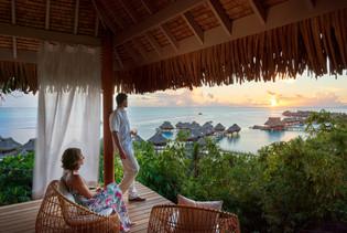Abendstimmung im Conrad Bora Bora Nui