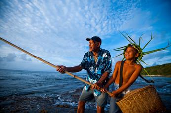 Fischer auf den Cook Inseln
