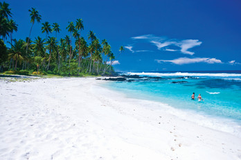 Traumstrand in Samoa