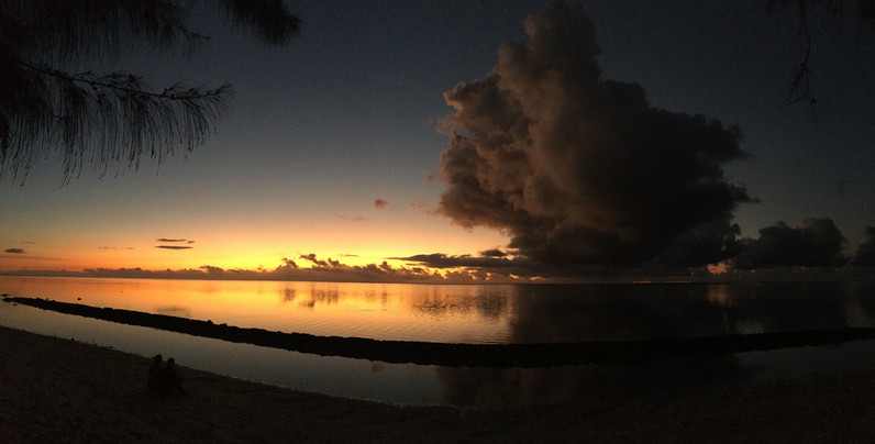 Sonnenuntergang auf Moorea