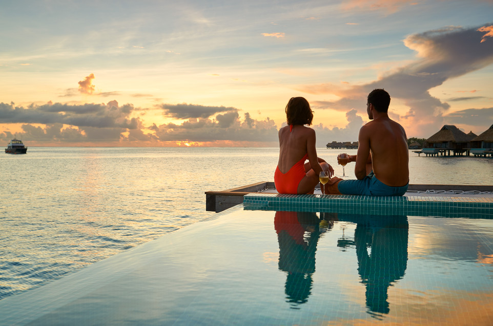 Conrad_Bora_Bora_Nui-Blick von der Overwater Pool Villa