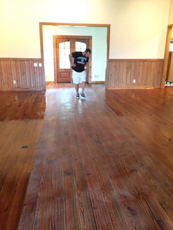 Stained Pine Cleaning