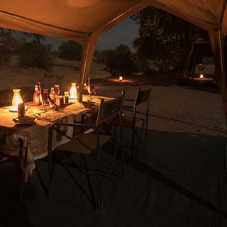 Dinnertime on safari