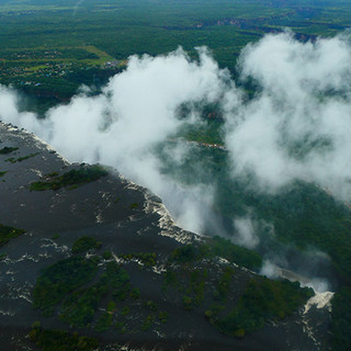 Victoria Falls - view from helicopter