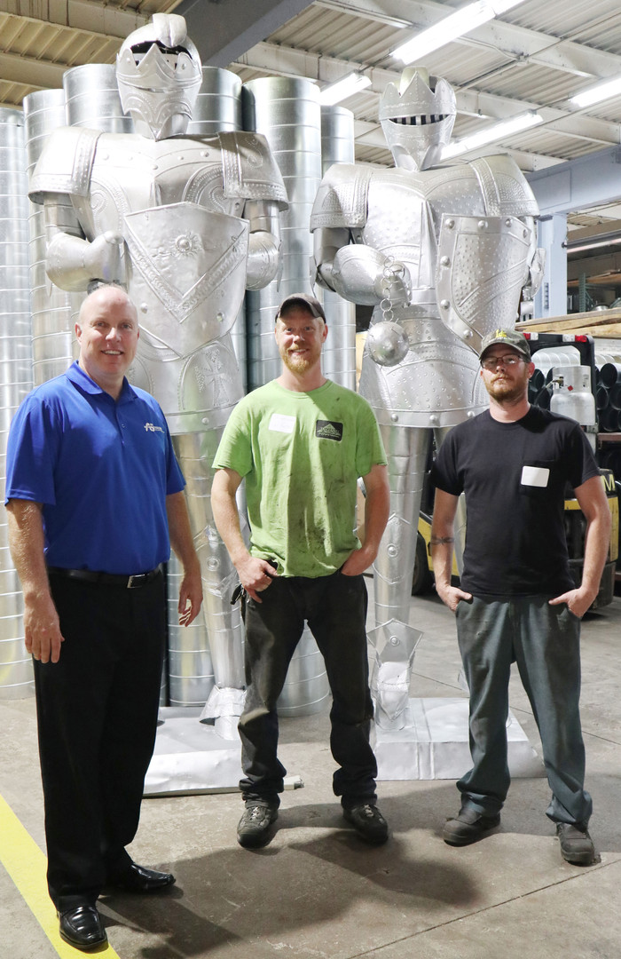 The knights guarding our warehouse