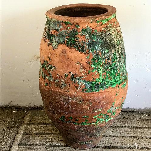 Painted Spanish Sestrica Terracotta Pot c1860