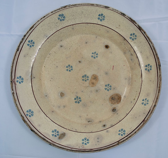 Antique  Rustic Italian Fiore Large Platter