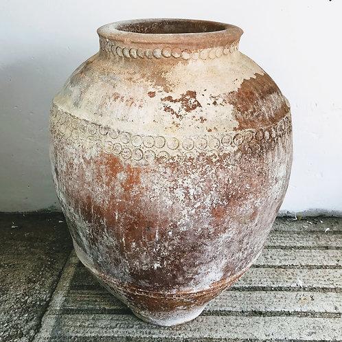 Large Limed Spanish Terracotta Pot c1830