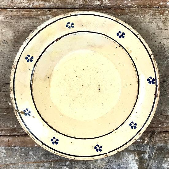 Antique  Rustic Italian Fiore Large Platter