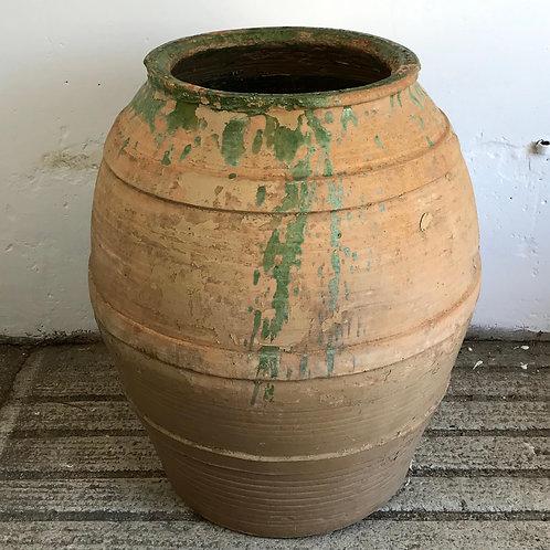 Large Spanish Glazed Terracotta Pot c1860
