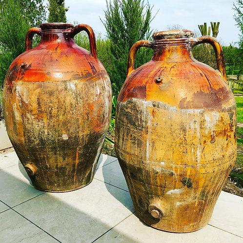 Large Antique Italian Capasoni Wine/Oil Jars