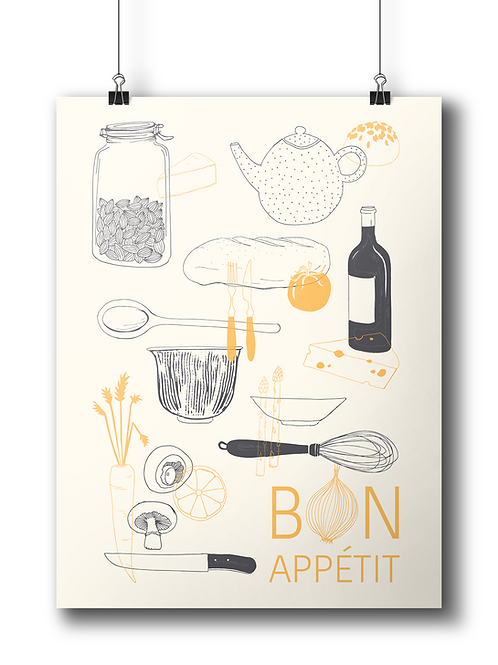 Bon Apétit 50 x 70 cm Limited Edition