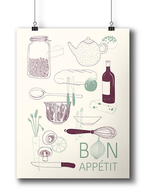 Bon Apétit 50 x 70 cm Limited Edition