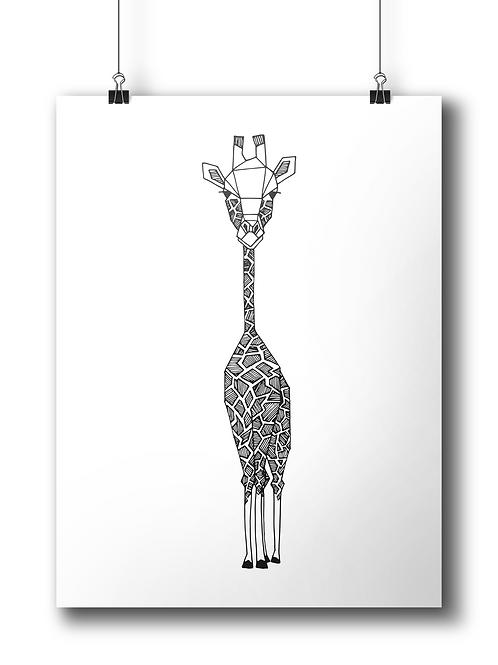 Geometric Giraffe  - A4 - Serigraphy
