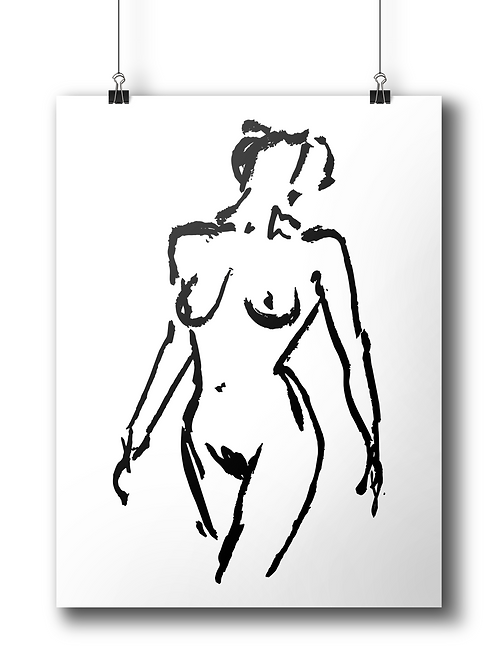 The Woman - A4 - limited edition