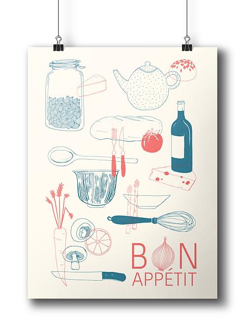 Bon Apétit 50 x 70 cm - Limited Edition