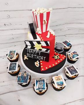 Movie night cake