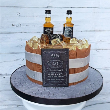Barrel of Whiskey cake.