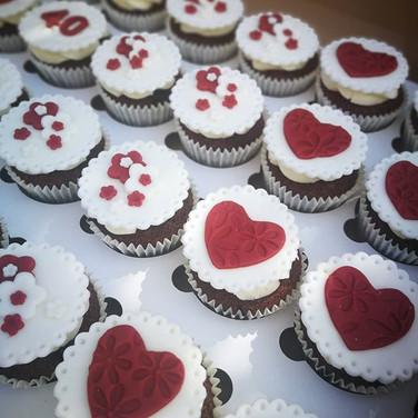 Ruby Anniversary cupcakes