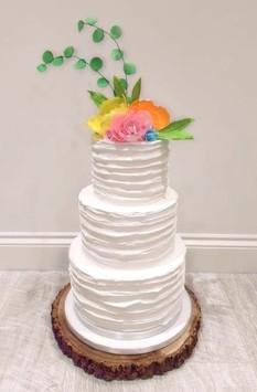 Simply Swirls Wedding Cake