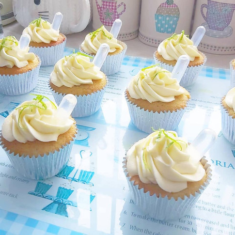 Gin and Lime cupcakes