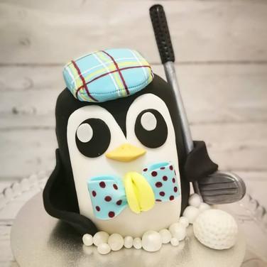Penguin golfer