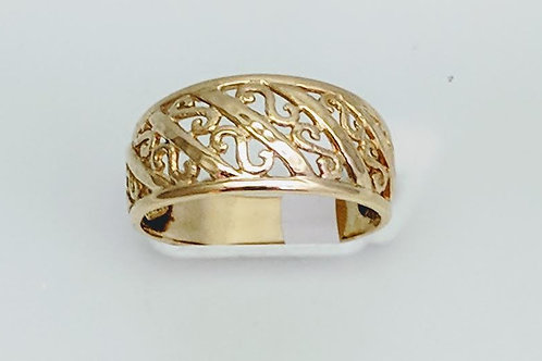14k Yellow Gold Band Style Ring