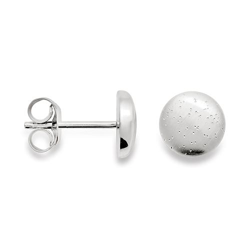 Sterling Silver & Diamond (Dust) Earrings
