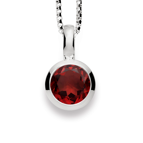 Sterling Silver & Garnet Pendant (chains sold separately)