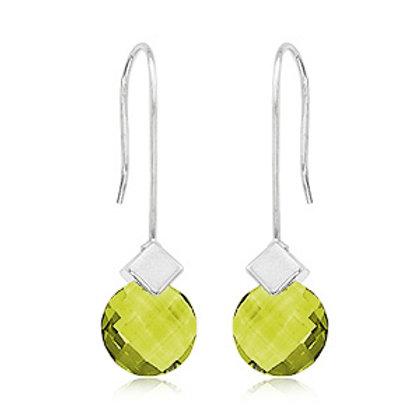 Sterling Silver & Green Amethyst Earrings