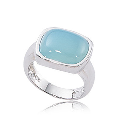 Sterling Silver & Blue Chalcedony Ring