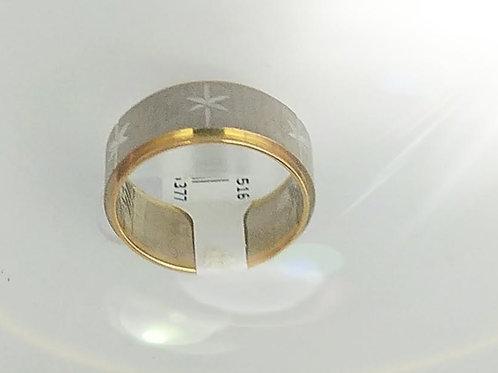 14k White & Yellow Gold Band Ring