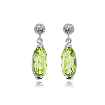 Sterling Silver & Peridot Earrings