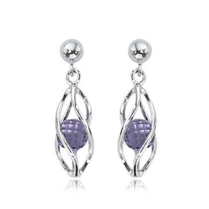 Sterling Silver & Amethyst Earrins