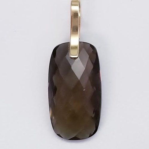 14k Yellow Gold & Smokey Topaz Pendant