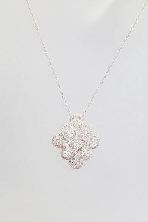 18k White Gold & Diamond Pendant
