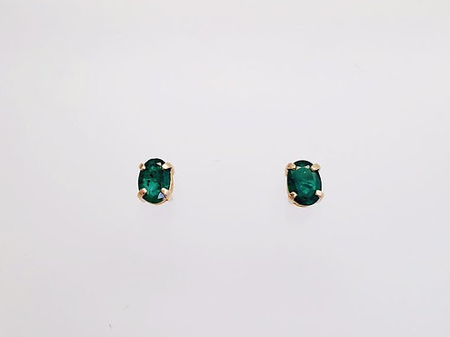 14k Yellow Gold & Emerald Earrings