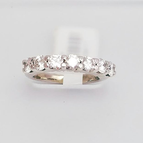 14k White Gold & Diamond Band Ring