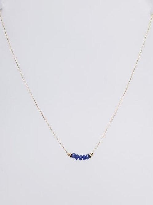 14k Yellow Gold & Sapphire Custom Designed Necklace