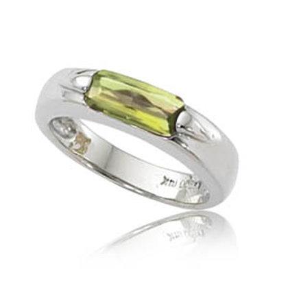 Sterling Silver & Peridot Ring