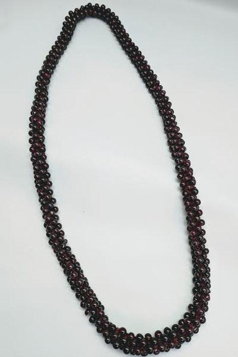 Garnet Bead Necklace Strand