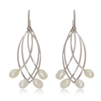Sterling Silver Fresh Water Pearl Earrings