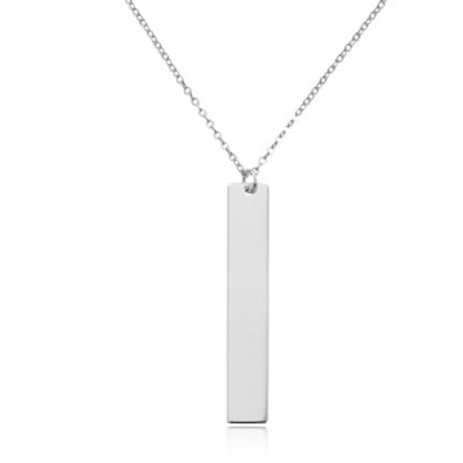 Sterling Silver Bar Pendant with Silver Chain