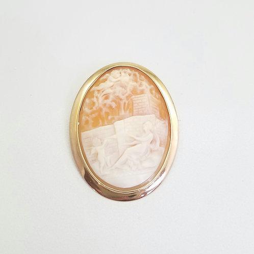 10kYellow Gold Cameo Brooch/Pin