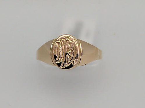 10k Yellow Gold Signet Ring