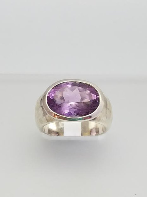 Sterling Silver & Amethyst Ring